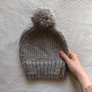 Elliott Bobble Hat Knitting Pattern/Hat Knitting Kit by Moloneymakes