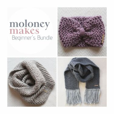 Moloneymakes Beginners Knit Pattern Bundle