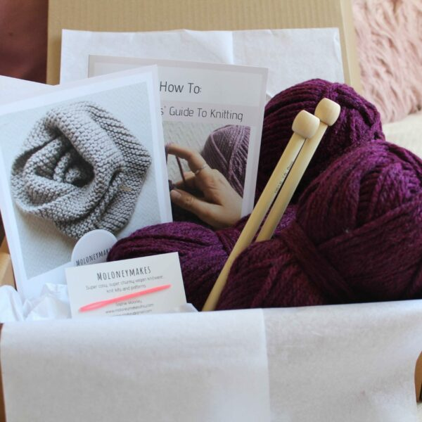 Oversized Cowl Knitting Kit By Moloneymakes