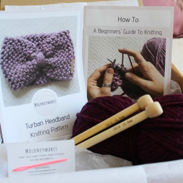 Turban Headband Knitting Kit By Moloneymakes