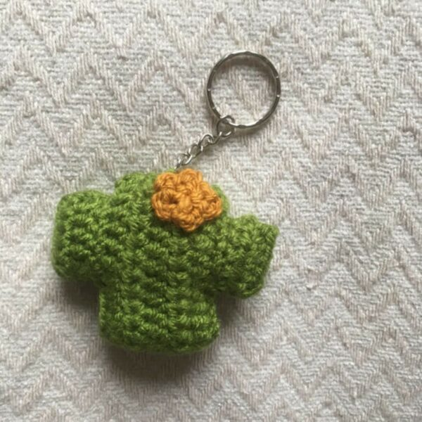 cactus keyring crochet pattern by Moloneymakes