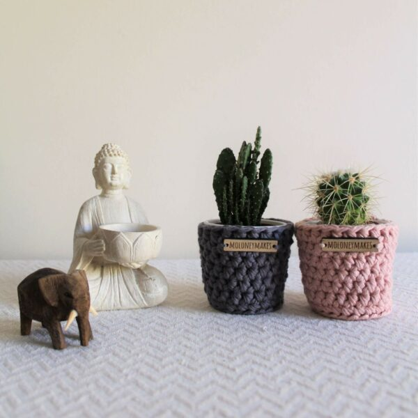 2 Crochet Planters by Moloneymakes