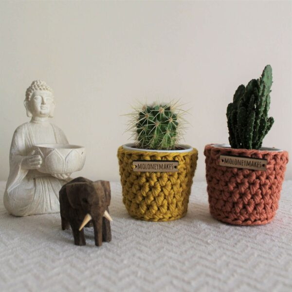 Pair of Crochet Planters by Moloneymakes
