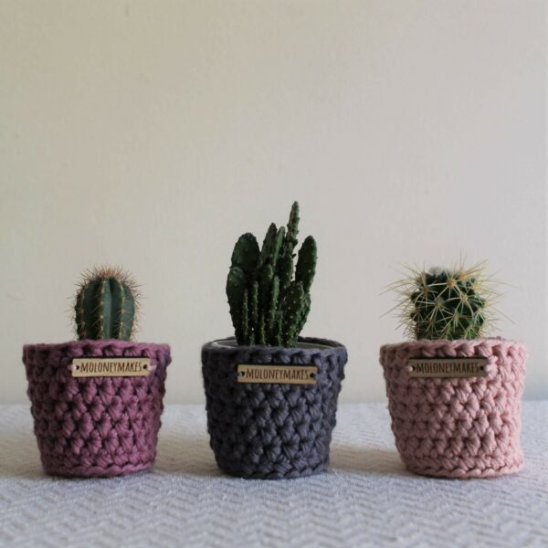 Set of Three Crochet Planters by Moloneymakes
