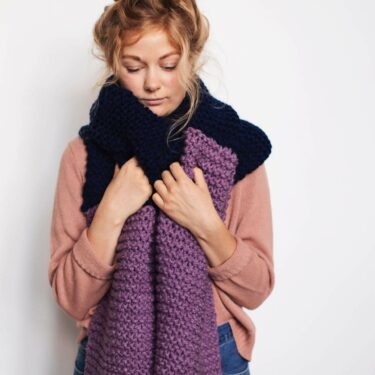 Moloneymakes Giant Blanket Scarf Knitting Kit, Blanket Scarf Knitting Pattern