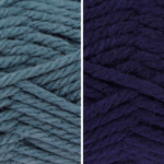 Moloneymakes Knitting Kit Subcription Yarn Colour Combo: Airforce and Navy