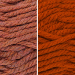 Moloneymakes Knitting Kit Subcription Yarn Colour Combo: Bronze and Rust