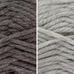 Moloneymakes Knitting Kit Subcription Yarn Colour Combo: Graphite and Grey