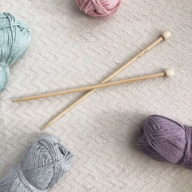 5mm Bamboo Knitting Needles Single Pointed and Recycled Cotton Moloneymakes