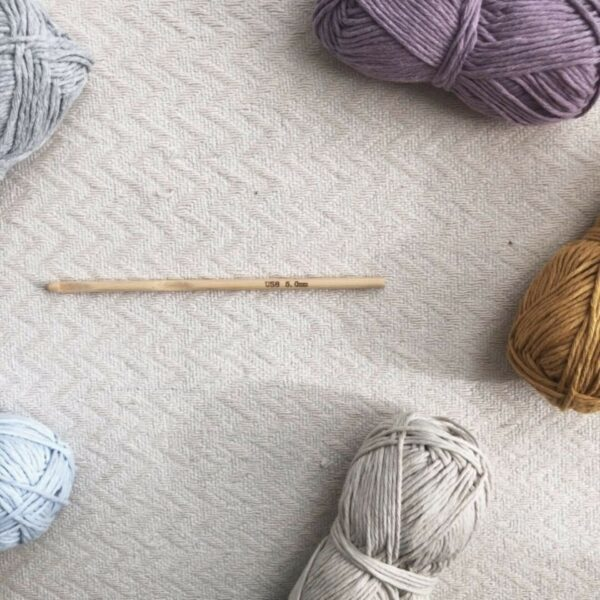 5mm Bamboo Crochet Hook and Recycled Cotton Moloneymakes