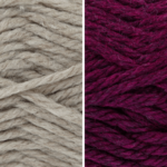 Moloneymakes Knitting Kit Subcription Yarn Colour Combo: Oatmeal and Redcurrant