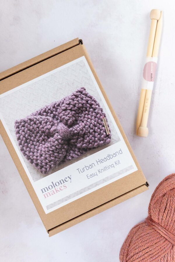 Moloneymakes Super Chunky Vegan Knitwear Headband Knitting Kit