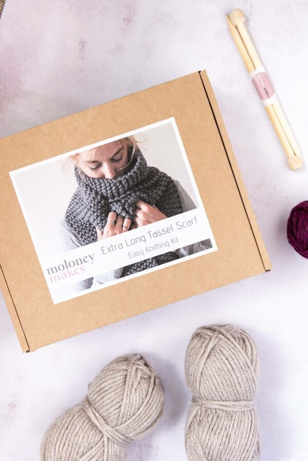 Moloneymakes Knitting Super Chunky Vegan Knitwear Scarf Knitting Kit