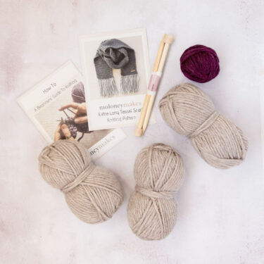Moloneymakes Super Chunky Vegan Knitwear Scarf Knitting Kit