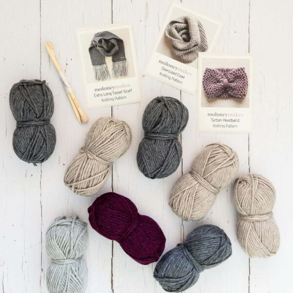 Moloneymakes-Ultimate Starter Knitting Kit
