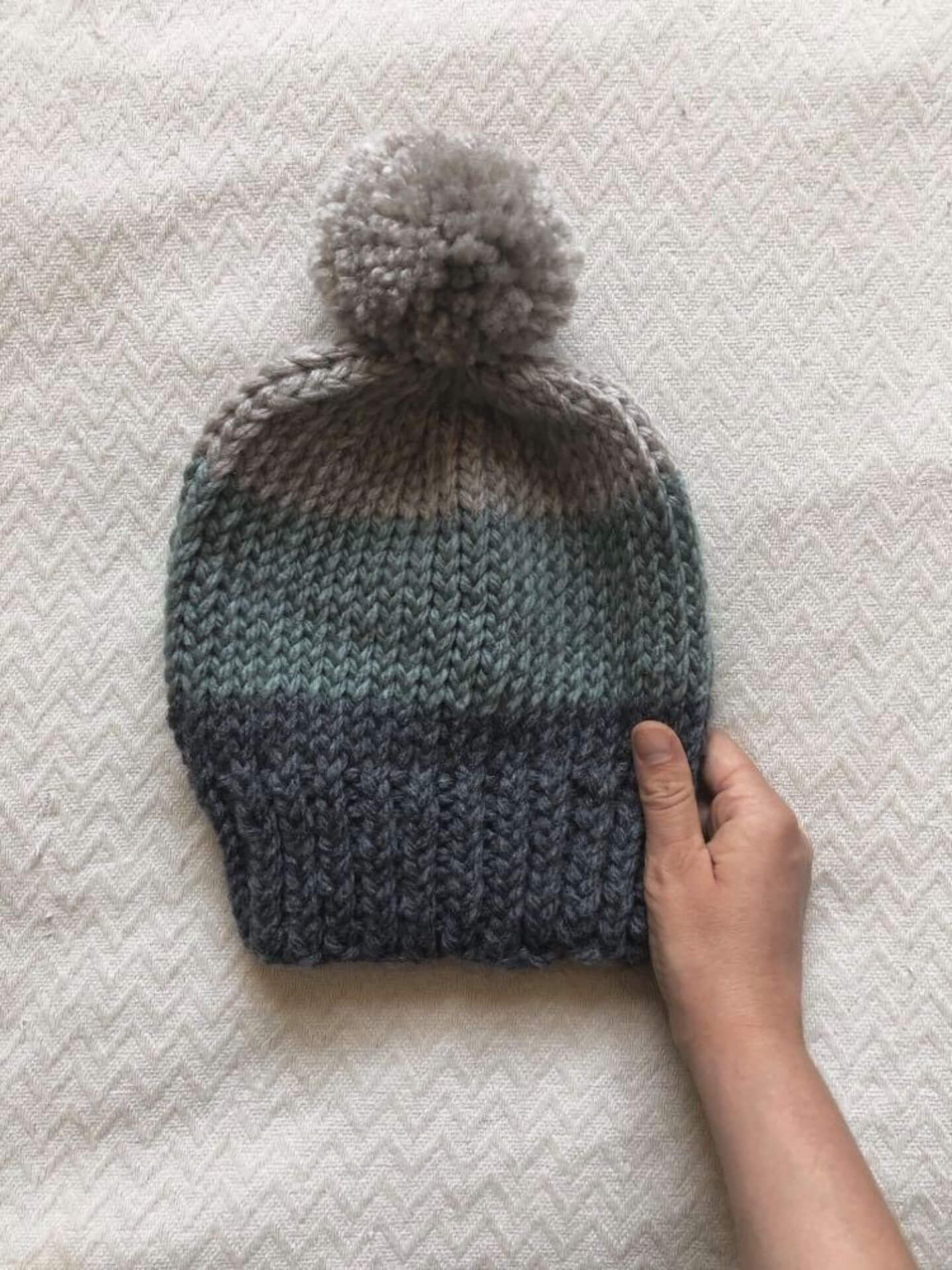 Playing with Colour 3 Ways: Elliott Bobble Hat Knitting ...