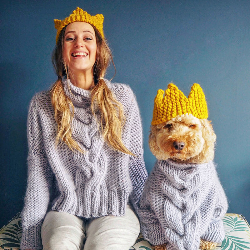 Lauren Aston Designs Chunky Knit Crown
