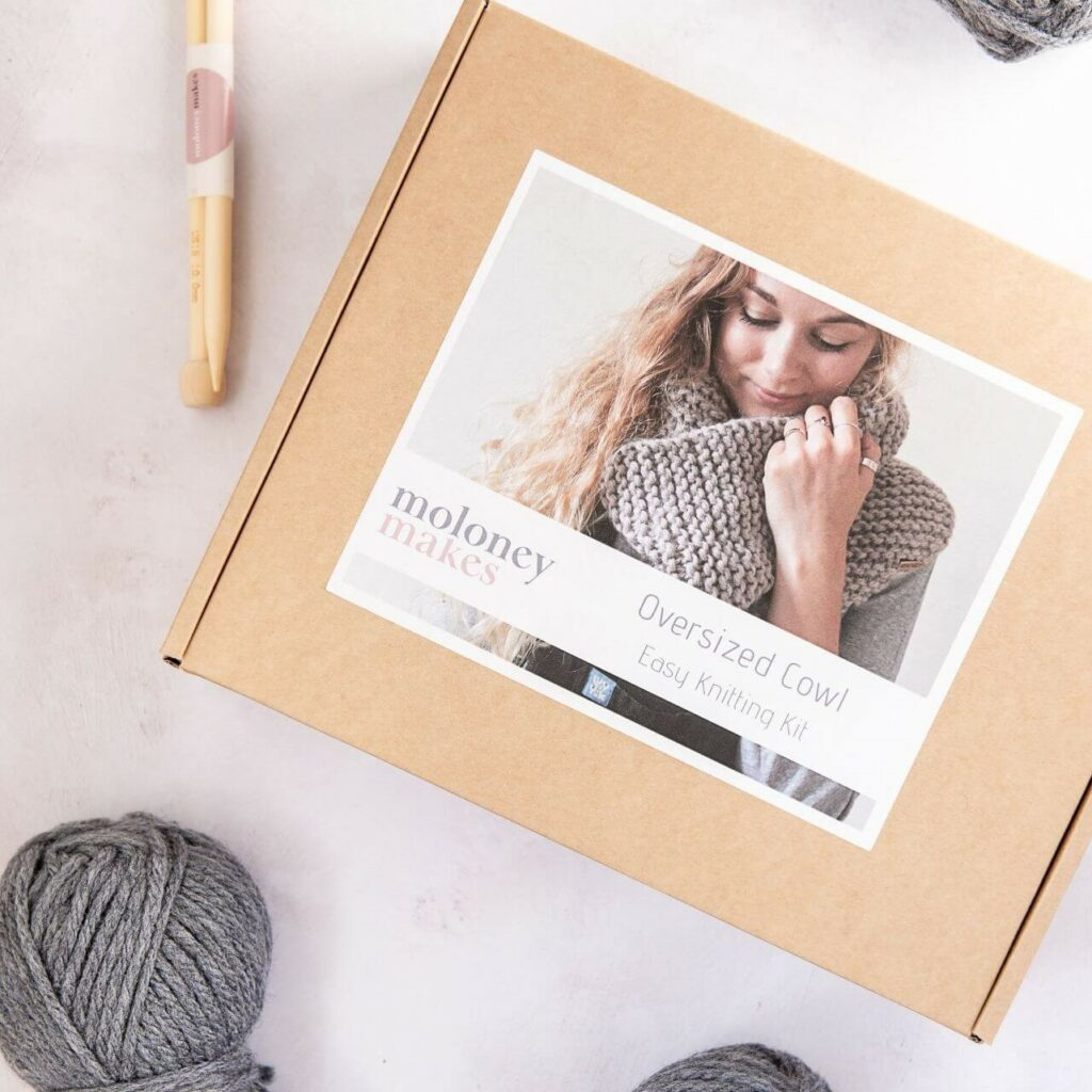 Molonymakes Jessica Cowl Knitting Kit, Delivery and Returns Image
