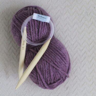 12mm knitting needles and super chunky yarn