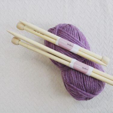 Moloneymakes Bamboo Knitting Needles 12mm and 10mm Knitting Needles