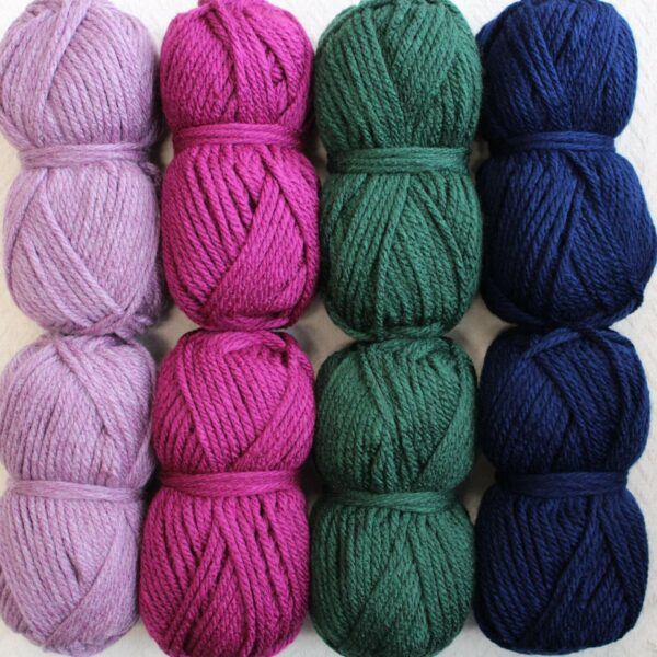 Moloneymakes Super Chunky Vegan Yarn Colour Pack in Colourway Berries