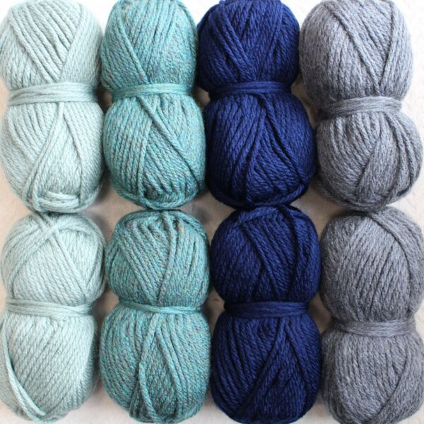 Moloneymakes Super Chunky Vegan Yarn Colour Pack in Colourway Cool