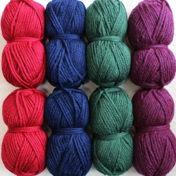 Moloneymakes Super Chunky Vegan Yarn Colour Pack in Colourway Jewels