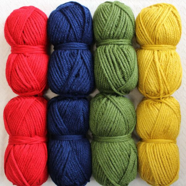 Moloneymakes Super Chunky Vegan Yarn Colour Pack in Colourway Primary