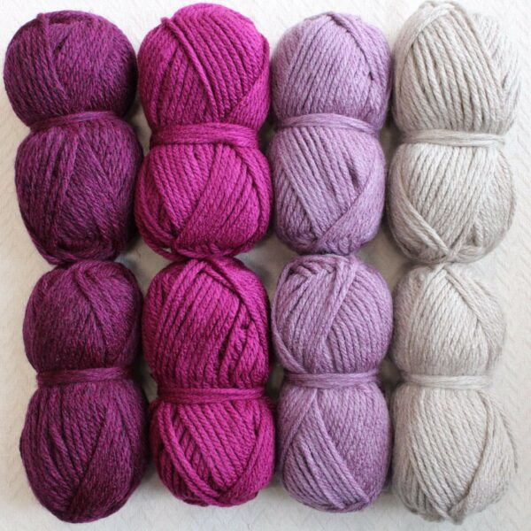 Moloneymakes Super Chunky Vegan Yarn Colour Pack in Colourway Parma Violet
