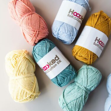 a bundle of hoooked recycled cotton dk in various colours