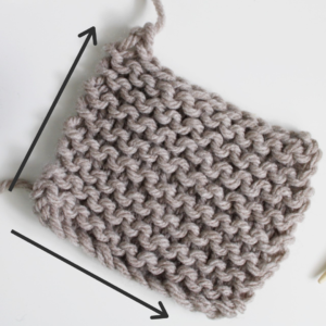Measure number of stitches and rows in swatch