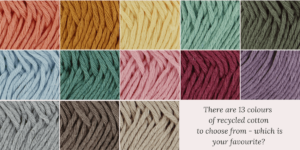 hoooked recycled cotton dk colour options