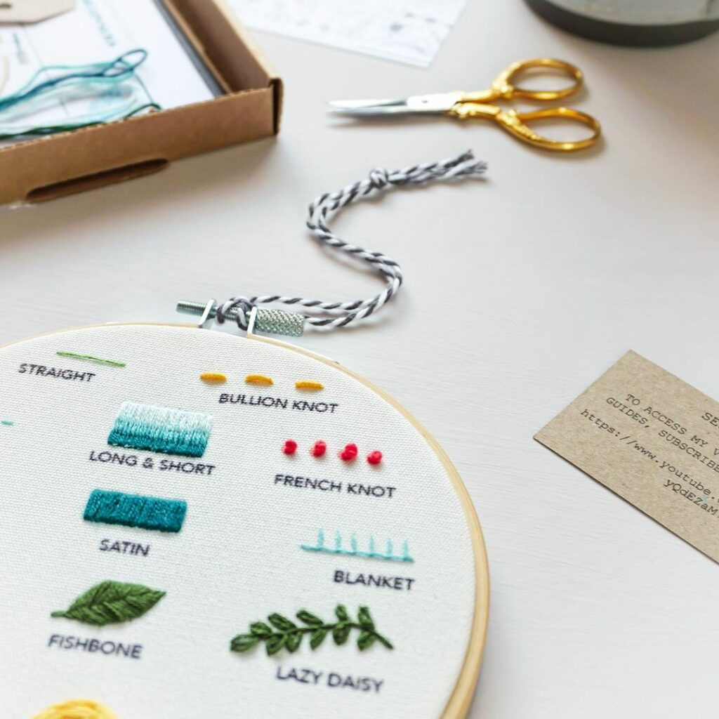 Beginners embroidery kit by Sew Made By Jess
