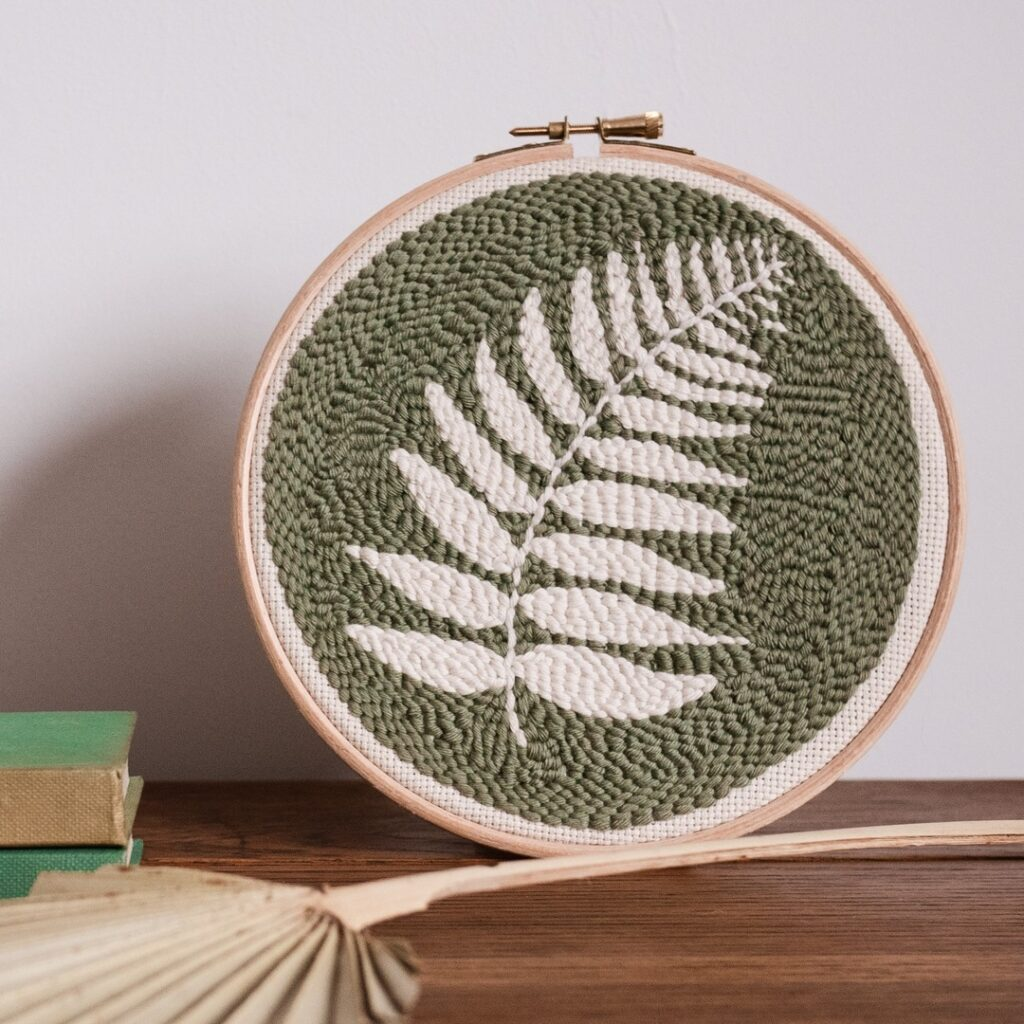 Fern punch needle kit for beginners by Whole Punching - Yarn crafts that aren't knitting or crochet blog