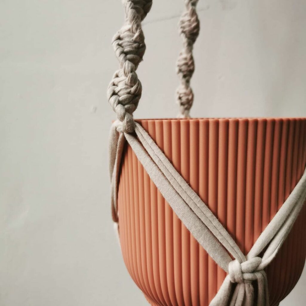 Macrame plant hanger kit by Knots and Shots